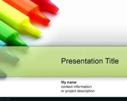free colored pencils powerpoint templates