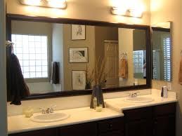 Illuminated Bathroom Wall Mirror Overwhelming Bathroom Wall Mirrors Framing Mirror Ideas Aster