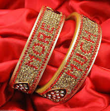 wedding chura with name bridal chura with name bangles at rs 1500 pair gobind nagar