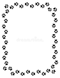 wolf paw print border stock illustration illustration of impression