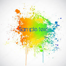 color paint splashes vector background u2014 stock vector emaria