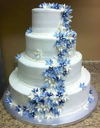 blue flowers for wedding collections of wedding cakes with blue flowers wedding ideas