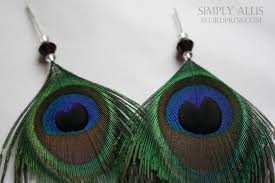 how to make feather earrings with peacock feather earrings diy simply allis
