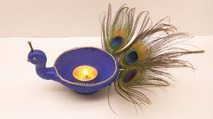 diy peacock diya how to make easiest diwali diya at home in