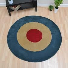Circular Wool Rugs Uk Roundel Circular Wool Rugs In Red Blue And Beige Free Uk