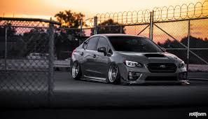 subaru wagon stance wrx sti sedan with a radical stance by rotiform u2014 carid com gallery