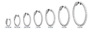 diamond hoops diamond hoop earrings