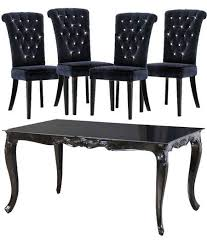 black dining table chairs entranching wonderful 94 best dining room furniture images on