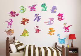 Dinosaur Nursery Decor Happy Dinosaurs Wall Decal Set Awesome Dino Nursery Decor