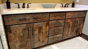 Wood Bathroom Ideas Reclaimed Wood Bathroom Vanity Home Design Decorating And