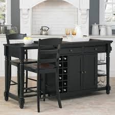 tall kitchen island ideas including black table set and chairs
