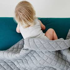 Grey Quilted Bedspread Hw17 Kip U0026co Grey Marle Cotton Jersey Cot Quilted Bedspread Tiny