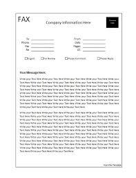 microsoft word fax template