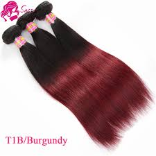 Best Human Hair Extensions Brand by Brazillian Straight Hair Ombre 3 Bundle Best Human Hair Weave