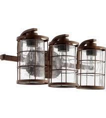Oil Rubbed Bronze Vanity Lighting Quorum 5364 3 86 Ellis 3 Light 20 Inch Oiled Bronze Vanity Light