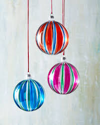 six striped glass ball christmas ornaments ornaments pinterest