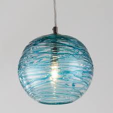 blue glass mini pendant light elegant blue pendant lights