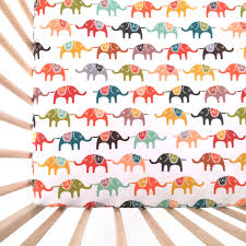 Bedding Crib Set by Crib Sheet Colorful Elephants Fitted Crib Sheet Baby