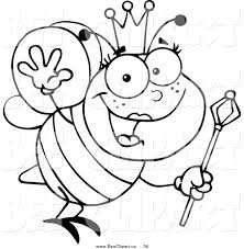 royalty free stock bee designs of coloring book pages