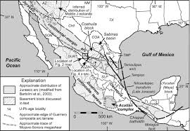 Map Of Durango Mexico by U Pb Geochronology Of The Type Nazas Formation And Superjacent