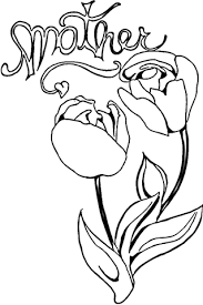 tulips mom coloring free printable coloring pages
