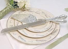 serving set wedding embossed cake server set wedding collectibles