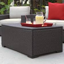 Outdoor Storage Coffee Table Serta At Home Laguna Outdoor Storage Coffee Table Reviews Wayfair