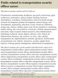 Security Resume Sample by Top 8 Transportation Security Officer Resume Samples