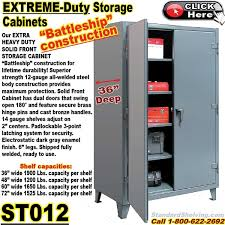 12 Inch Deep Storage Cabinet by St012 Extreme Duty 36