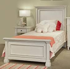 Girls White Twin Bed Folio 21 Stoney Creek Youth Twin Panel Bed Great American Home