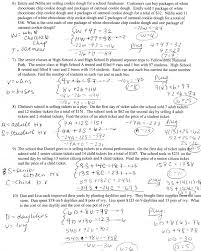 graphing systems of linear equations worksheet doc tessshlo