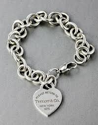 silver bracelet with heart pendant images Tiffany co sterling silver heart tag pendant link chain jpg