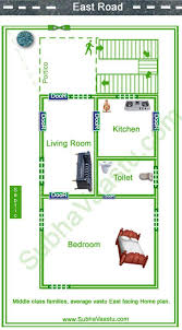2 Bedroom House Plans Vastu East Facing Home Plan Vaastu Shastra House Plans