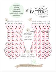 pattern felt mitten ornament pattern
