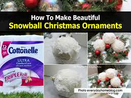 how to make beautiful snowball ornaments