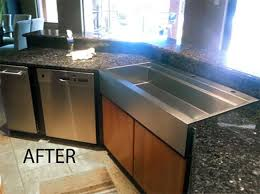 installing granite countertops on existing cabinets can you install a farmhouse sink in existing granite sink ideas