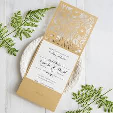 rsvp cards for wedding gold laser cut pocket wedding invitations with matching rsvp cards