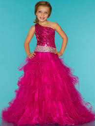 be a princess in little girls pageant dresses