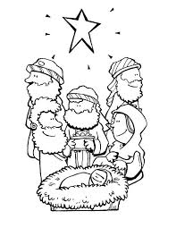 Star Of Bethlehem And Three Wise Men Bible Christmas Story Wise Worship Coloring Page