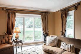 pictures of window treatments for living room medium brown side