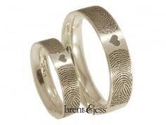fingerprint wedding band you complete me fingerprints in shape of heart wedding bands 3