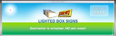 Outdoor Light Box Signs Lighted Business Signs Commercial Lighted Sign Outdoor Lighted