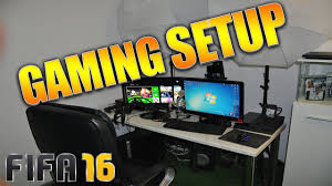 Ultimate Gamer Setup My Ultimate Gaming Setup Ready For Fifa 16 Youtube