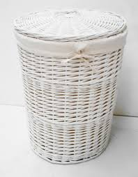 white wicker laundry hamper square u2014 sierra laundry treatment