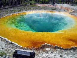 Wyoming national parks images Morning glory pool yellowstone national park wyoming united jpg