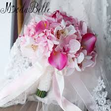 fleur artificielle mariage modabelle pink artificial flowers wedding bouquet 2017 brooch