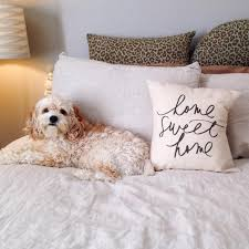 handmade home sweet home pillow by parris chic boutique home