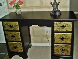 Painting Furniture Black by Faux Painting Furniture Black Gold Texas Rose Desk Vanity