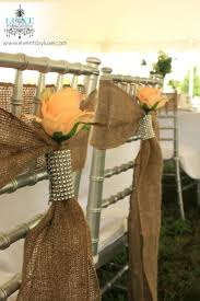 Vintage Wedding Chair Sashes Rustic Wedding Burlap Chair Sashes With Flower And Bling Shabby