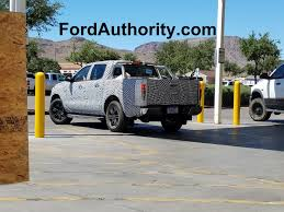 2019 ford ranger spy shots and video spied 2019 ford ranger hauling sand ford authority